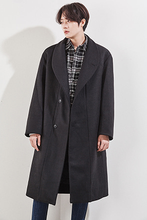Shawl Collar Two-Button Coat