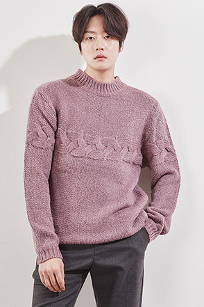 Horizontal Cable Knit Sweater