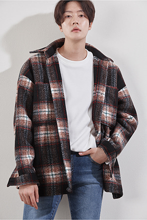 Chest Pocket Check Jacket