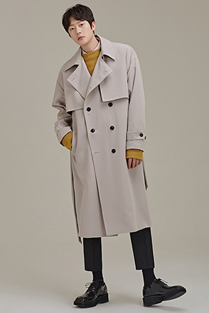Solid Tone Belted Coat