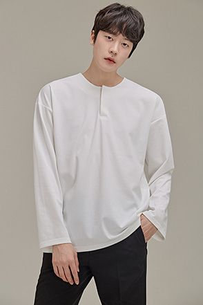 Snap Button Long Sleeve Shirt
