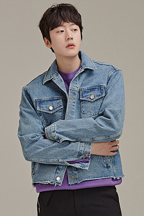Raw Hem Denim Jacket
