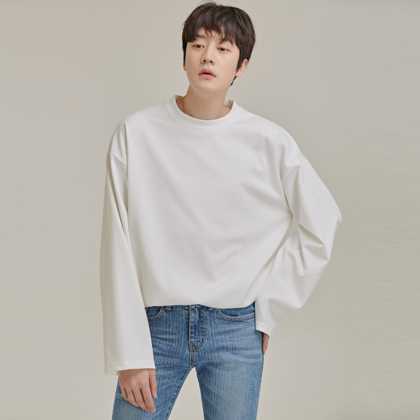 Extended Sleeve Crew Neck T-Shirt