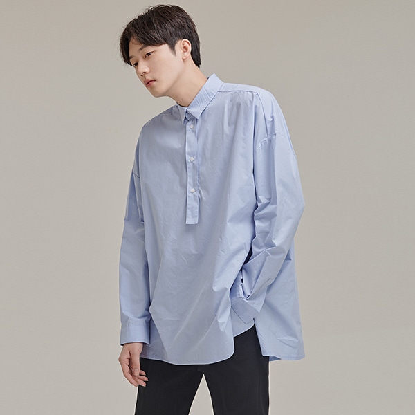 Side Slit Front Button Shirt
